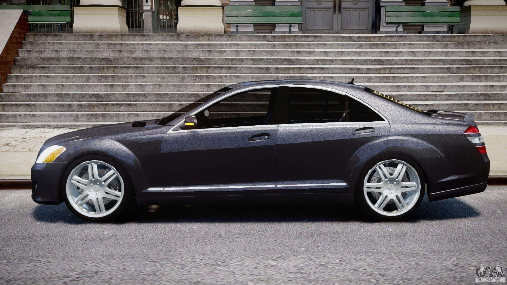 Mercedes benz s class w221 brabus sv12 for gta 4 for Mercedes mercedes benz