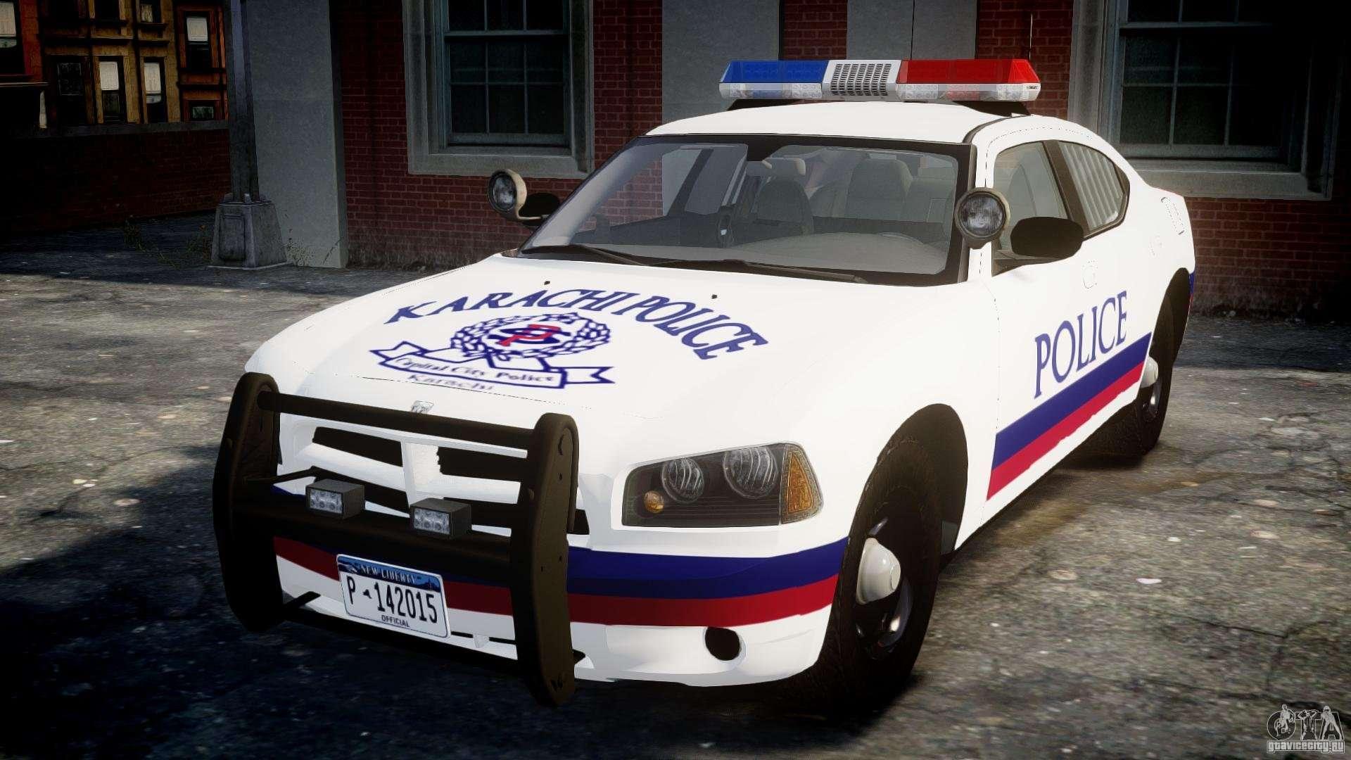 dodge charger karachi city police dept car els for gta 4. Black Bedroom Furniture Sets. Home Design Ideas