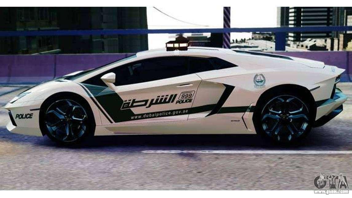 Lamborghini Aventador Lp700 4 Dubai Police V1 0 For Gta 4