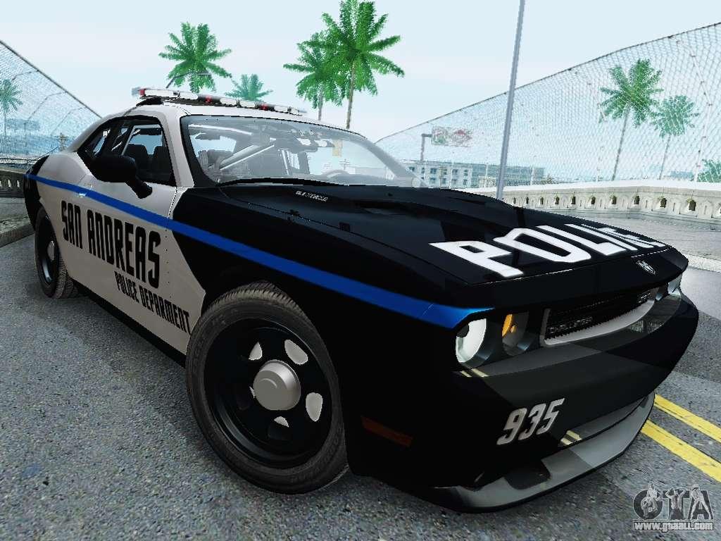 Dodge Challenger Demon >> Dodge Challenger SRT8 2010 Police for GTA San Andreas