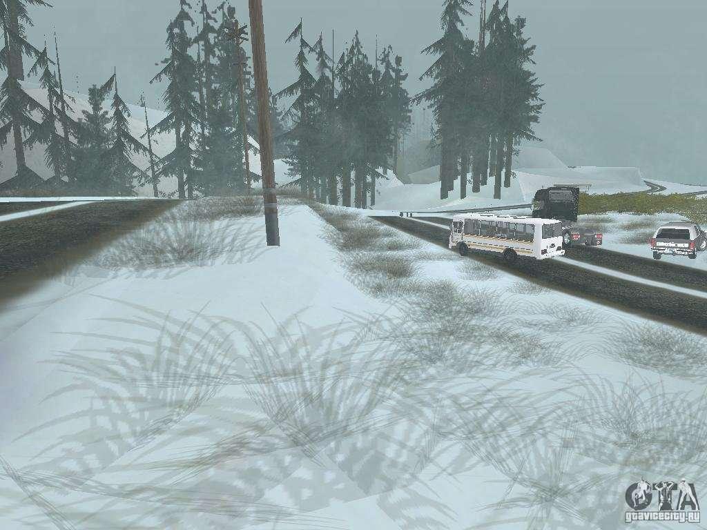 скачать мод на снег на Gta San Andreas - фото 11