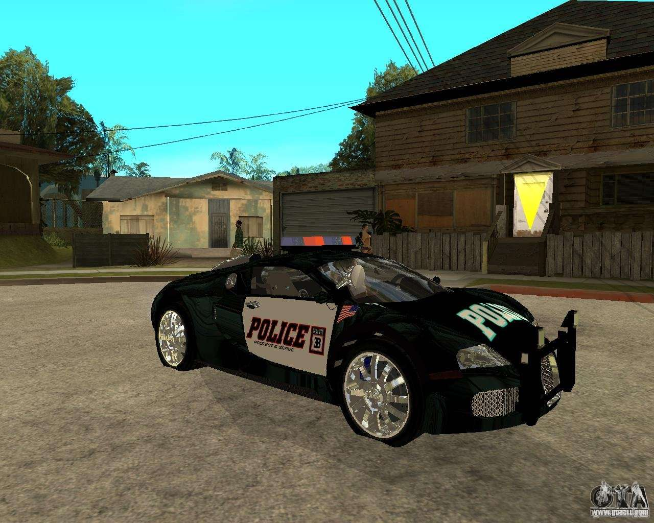 bugatti veyron police san fiero for gta san andreas. Black Bedroom Furniture Sets. Home Design Ideas
