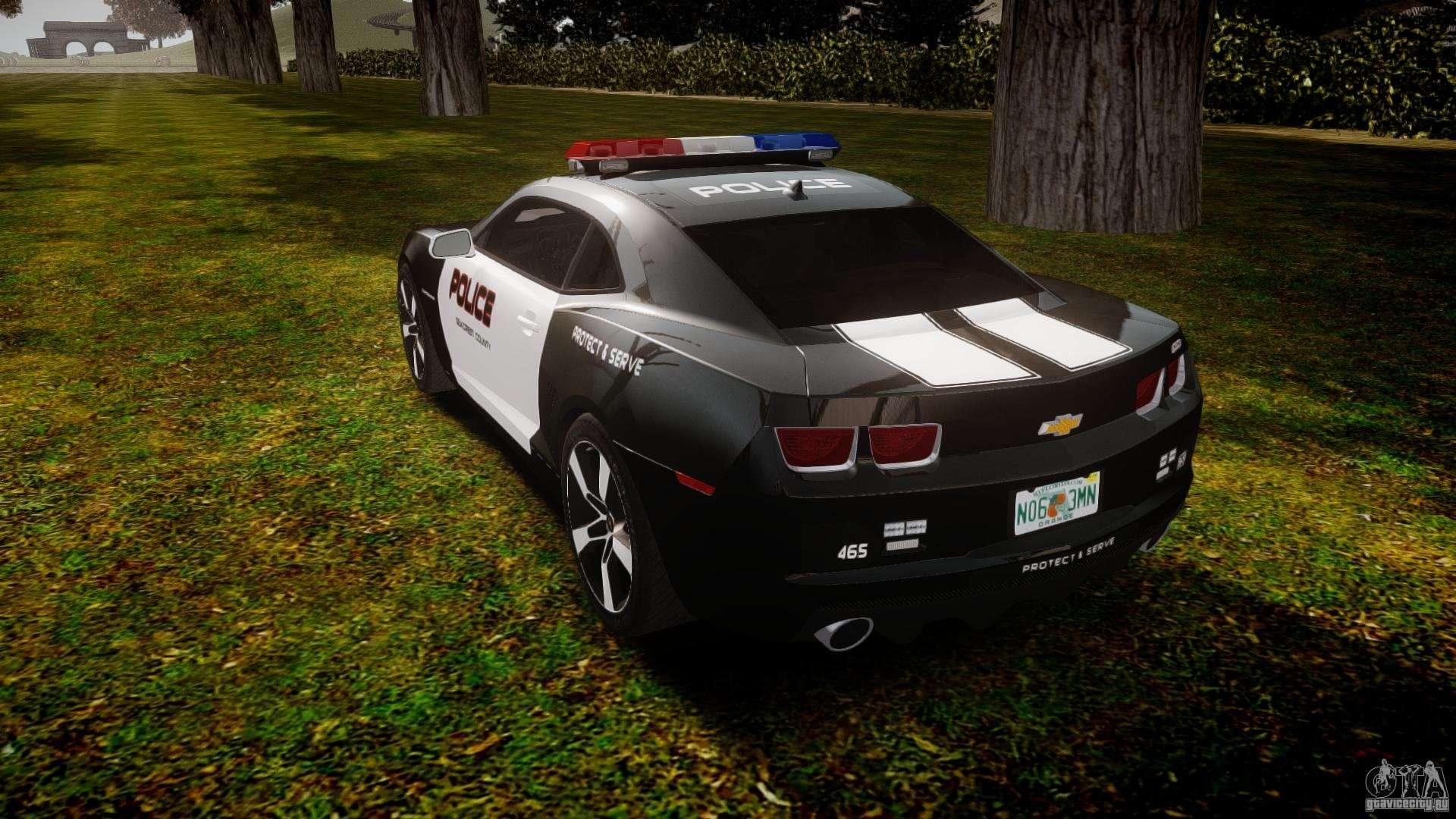 Chevrolet Camaro Police Beta For Gta 4
