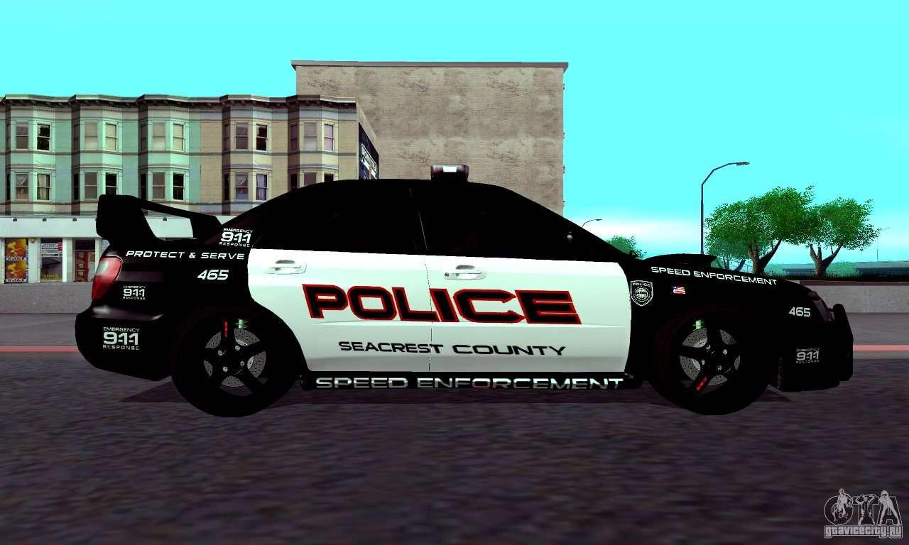 Subaru Impreza Wrx Sti Police Speed Enforcement For Gta