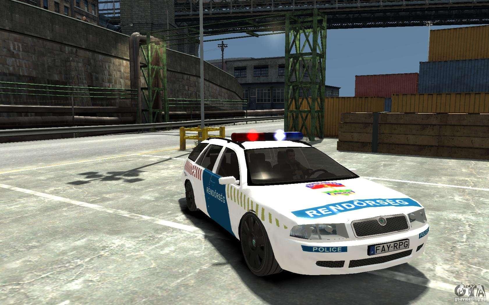skoda octavia kombi 2005 hungarian police for gta 4. Black Bedroom Furniture Sets. Home Design Ideas