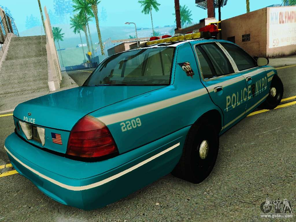 ford crown victoria 2003 nypd blue for gta san andreas left view car interior design. Black Bedroom Furniture Sets. Home Design Ideas