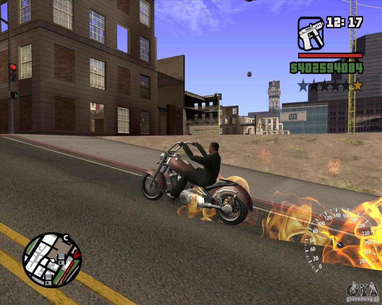 To activate, enter the GHOSTRIDER. You must be on the bike FREEWAY ...