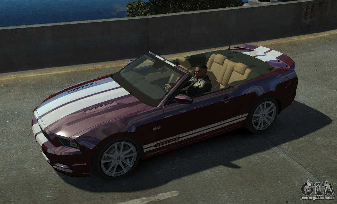 Ford Mustang Gt Convertible 2013 For Gta 4