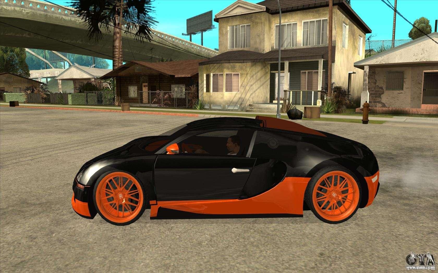 Bugatti Veyron Super Sport 2011 For GTA San Andreas Back Left View