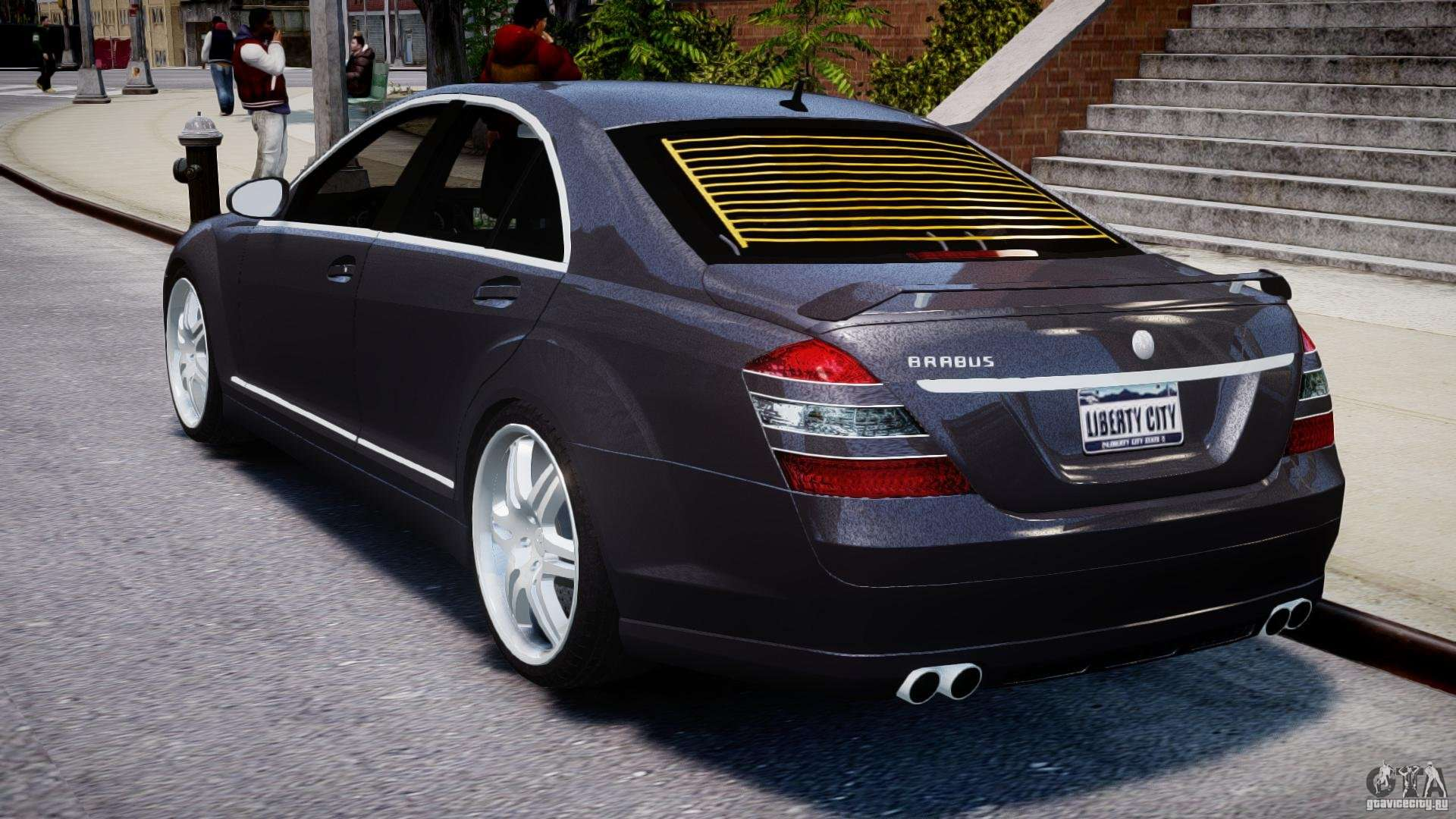 Mercedes benz s class w221 brabus sv12 for gta 4 for Mercedes and benz
