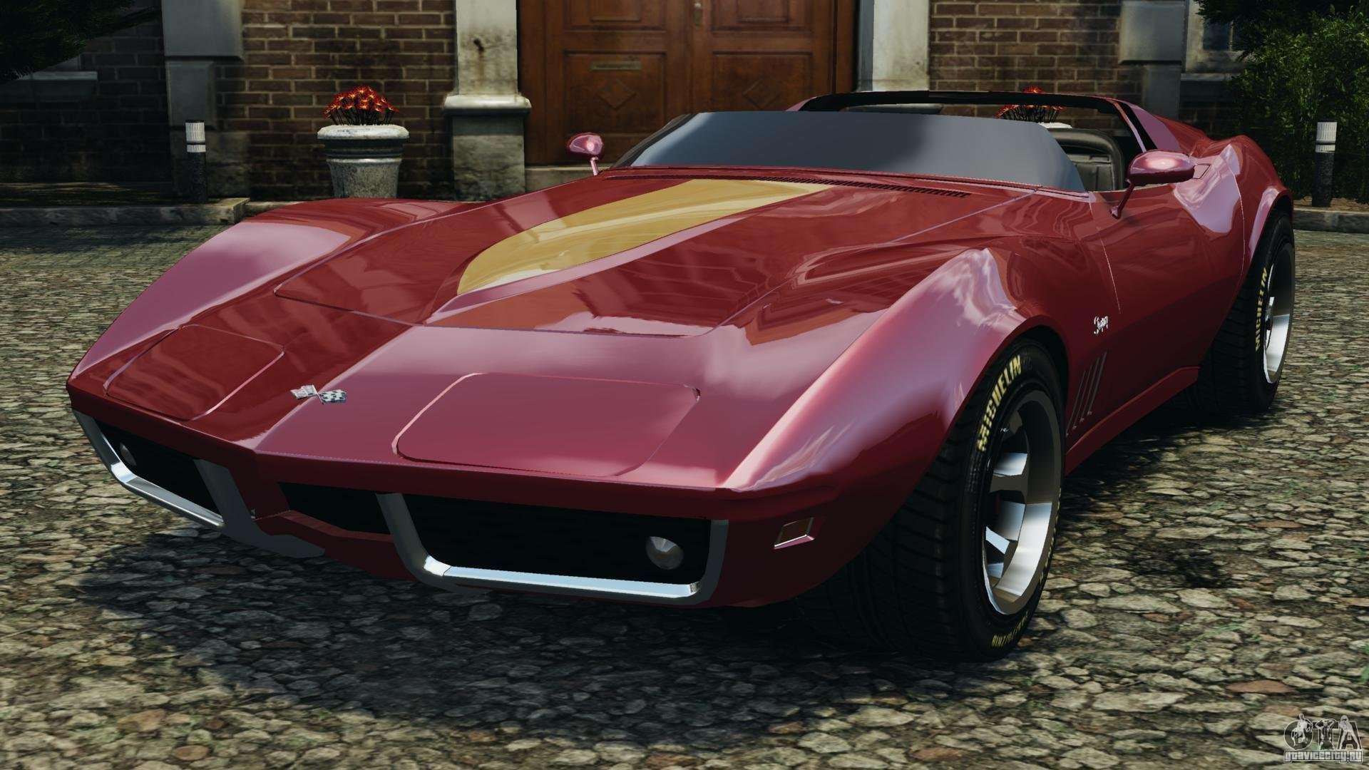Chevrolet Corvette Sting Ray 1970 Custom For Gta 4