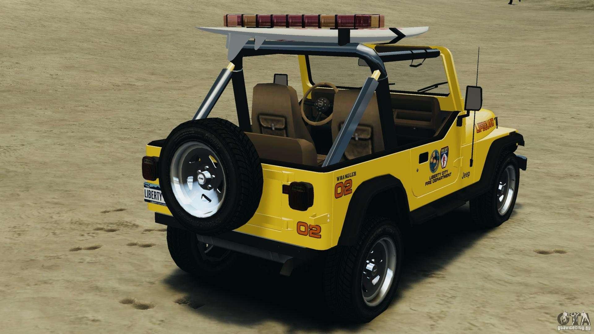 Jeep Wrangler 1988 Beach Patrol V11 Els For Gta 4 Hard Top