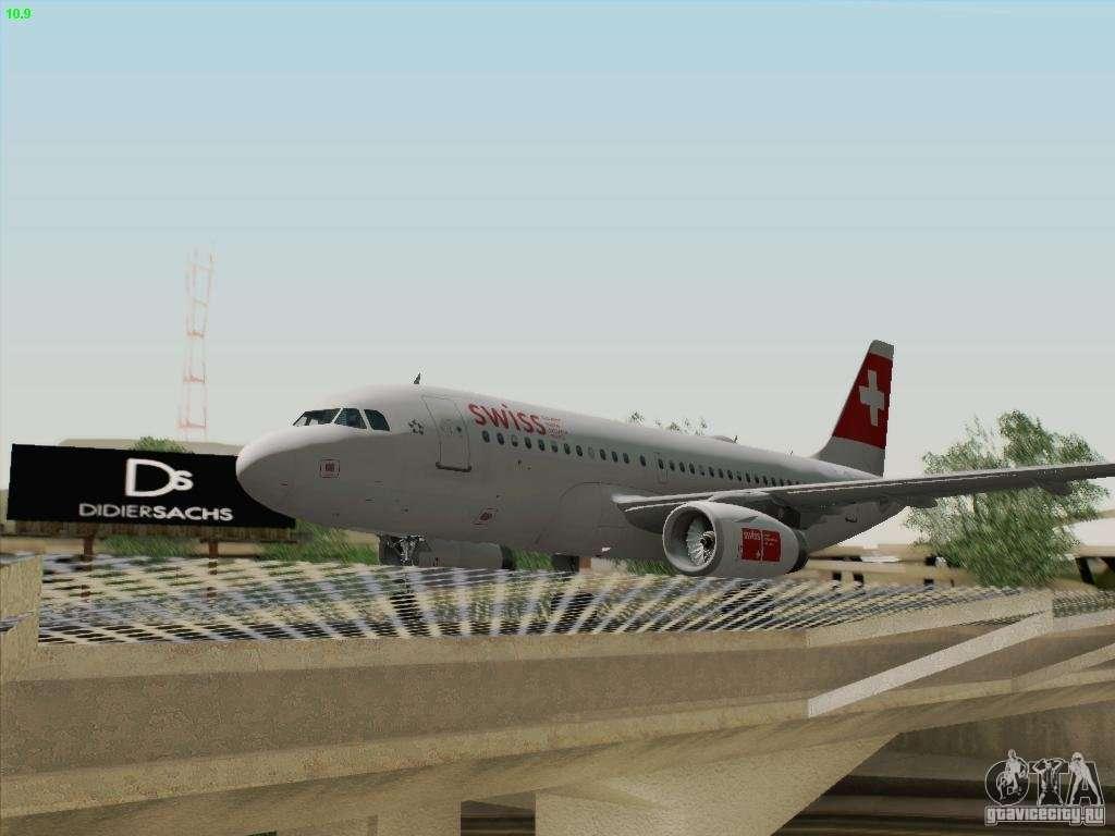 airbus a319 112 swiss international air lines for gta san. Black Bedroom Furniture Sets. Home Design Ideas