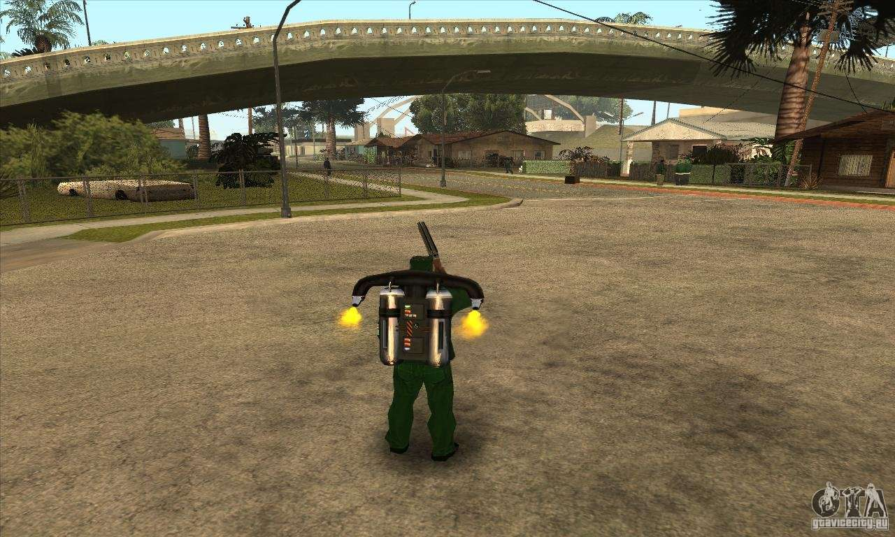 Shooting With A Sawn Off Shotgun With Jetpack For Gta San