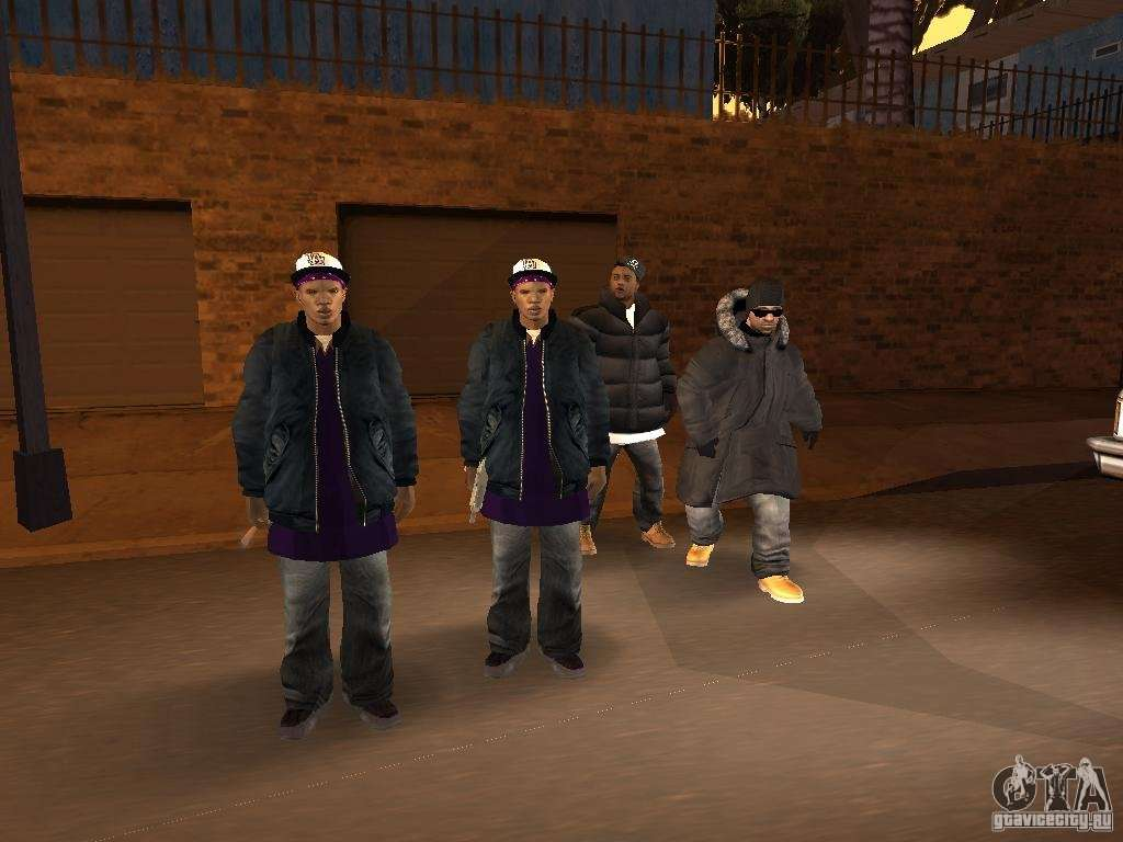 Winter Clothes For Ballas For GTA San Andreas