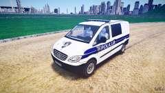 Mercedes Benz Viano Croatian police [ELS] for GTA 4