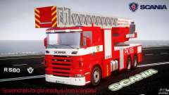 Scania R580 Fire ladder PK106 for GTA 4