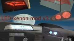 LED-xenon mod v3.0 for GTA San Andreas