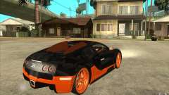 Bugatti Veyron Super Sport 2011 чёрный for GTA San Andreas