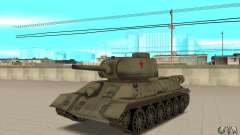 Tank T-34-85 for GTA San Andreas