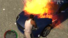Auto extinguishing a fire extinguisher for GTA San Andreas