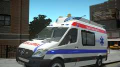 Mercedes-Benz Sprinter Azerbaijan Ambulance v0.2 for GTA 4