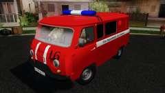 UAZ 3909 fire