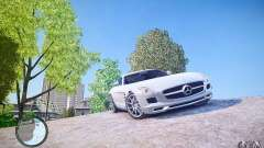 Mercedes-Benz SLS63 AMG белый for GTA 4