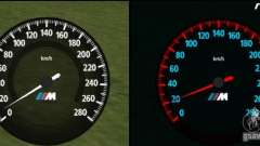 New BMW speedometer