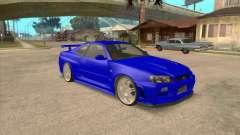 Nissan Skyline GT-R R34 from FnF 4 v.2.0 for GTA San Andreas