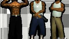 Skins bands HQ for GTA San Andreas