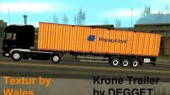 Krone Trailer Hapag-LLoyd for GTA San Andreas