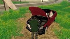 CLEO mod: CJ can repair the car