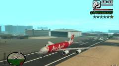 Airbus A380 800 Air Asia for GTA San Andreas