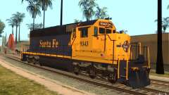 Locomotive SD 40 Santa Fe Blue/Yellow