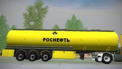 Trailer for Mercedes-Benz Actros Rosneft for GTA San Andreas