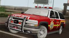 Chevrolet Suburban SFFD for GTA San Andreas