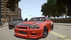 Nissan Skyline GT-R R34 Underground Style for GTA 4