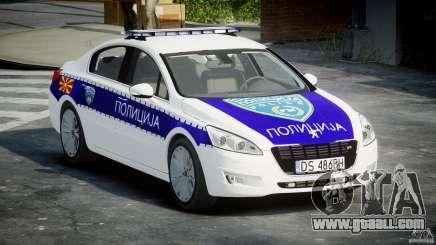 Peugeot 508 Macedonian Police [ELS] for GTA 4