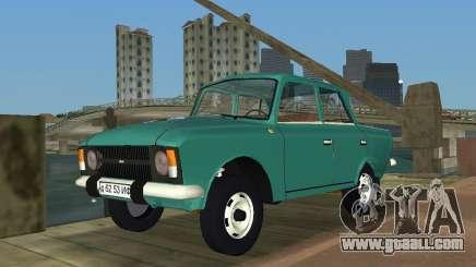 Moskvitch IZH 412 for GTA Vice City