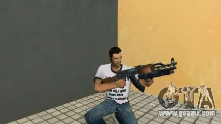 AK-47 with Underbarrel Shotgun for GTA Vice City