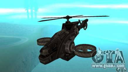 A helicopter from the game TimeShift Black for GTA San Andreas