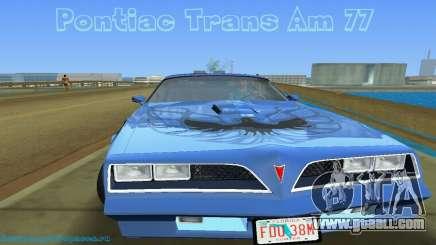 Pontiac Trans Am 77 for GTA Vice City