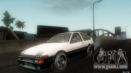 Toyota Sprinter Trueno AE86 Drift spec for GTA San Andreas