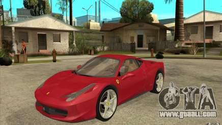Ferrari F458 for GTA San Andreas
