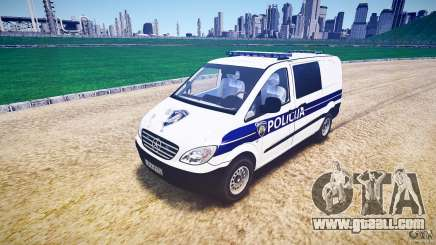 Mercedes Benz Viano Croatian police [ELS] for GTA 4
