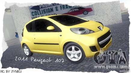 Peugeot 107 2011 for GTA San Andreas