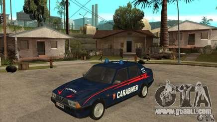 Alfa Romeo 75 Carabinieri for GTA San Andreas