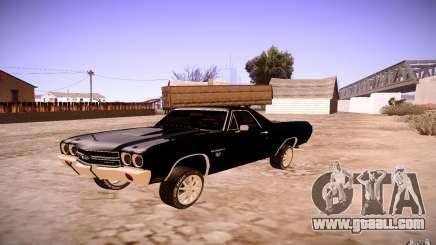 Chevrolet El Camino SS 1970 for GTA San Andreas