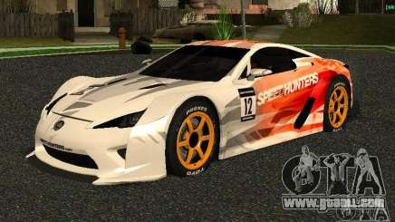 Lexus LFA Speedhunters Edition for GTA San Andreas
